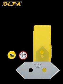 OLFA 45°-os pasztartuvágó dekorációskéshez penge. 5db./tasak