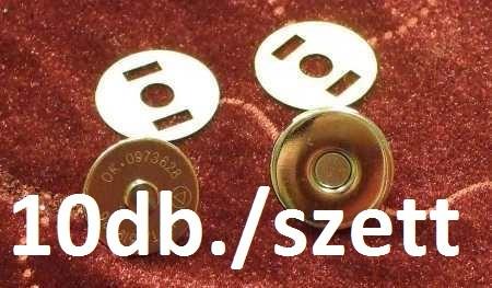 Mágneszár Patent 10-es csomag ( neodym mágnessel záródó patent) 18 mm-es