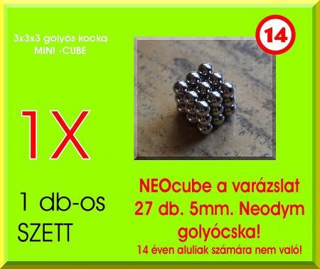 Neo-kocka MINI 3x3x3 (27db. 5mm. golyócska)
