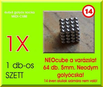 Neo-kocka 64db. 5mm.-es golyócska MIDI-CUBE