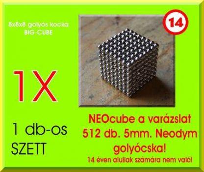 Neo-kocka 512db. 5mm. golyó (8x8x8) GIGA-CUBE