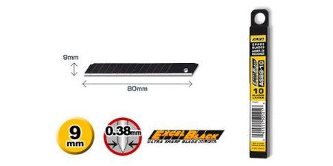 OLFA 9mm. Penge törhető 10db./csomag FEKETE ASBB-10