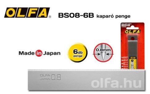 OLfa tartalék penge kaparóhoz. 0,8mm. vastag 6db./csom.