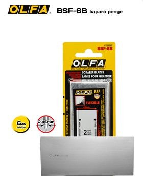 OLfa tartalék penge BSF-6B a BSR-200; BSR-300; BSR-600 kaparókhoz 6db./csomag