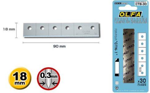 OLfa tartalék penge a CTN-1 Karton bontóhoz 30db./csomag