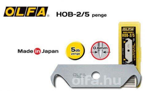 Olfa horgas penge, fordítható ( 5db. /csomag) HOB-2/5