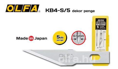 Olfa KB4-S/5 Dekorációs művészkéshez penge