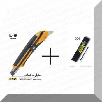 Olfa Sniccer 18mm. wheel-lock L5 + 5 Black penge