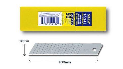 OLFA 18mm. Penge 15X törhető 50db./csomag