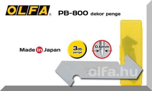 Olfa PC-L műnyagvágóhoz hobbykéshez való tartalék penge 3db./cs.