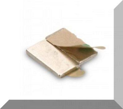 10x5x1 mm. N35 Öntapadós téglatest mágnesek (40 db. azaz 20 pár) SZETT