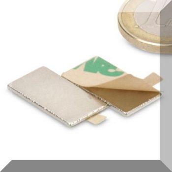 20x10x1 mm. N45 Öntapadós téglatest mágnesek (20db. azaz 10 pár) SZETT