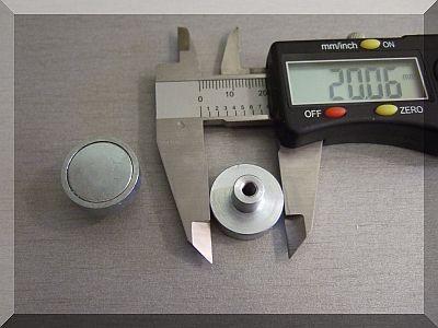 Neodym POT mágnes D20x13 mm.