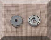 D25x7 Gyűrűs NdFeB betétes N35 POT mágnes