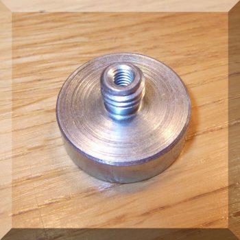 D25x14 SmCo betétes POT mágnes: B:M4 K:M8 menettel