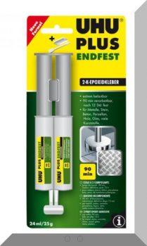 UHU Endfest 2 komponesű epoxy ragasztó 25g. (dupla kamrás)
