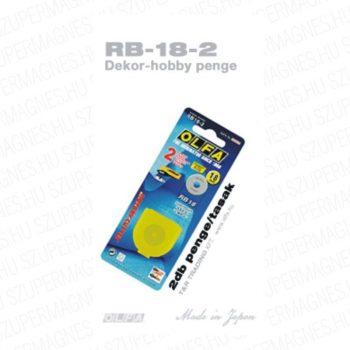 Olfa 18mm-es körpenge 2db. /csom.