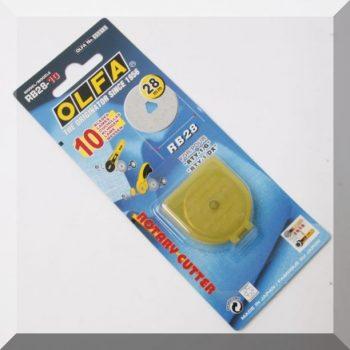 Olfa 28mm-es textilkés körpenge 10db. /csom.
