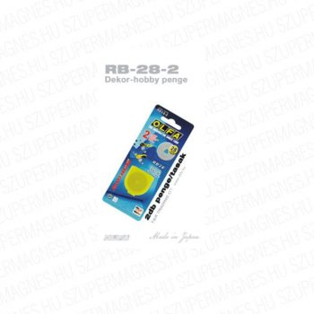 Olfa 28mm-es textilkés körpenge 2db. /csom.