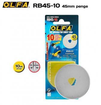 Olfa 45mm-es textilkés körpenge 10db./csom. (RB-45-10)