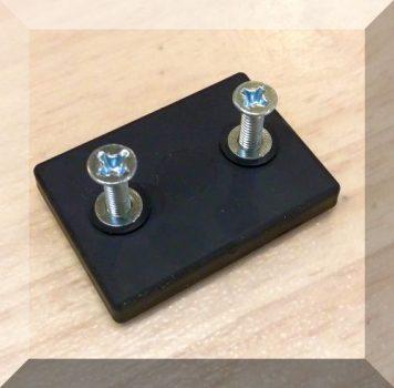 Santoprene Neodym mágneses Tappancs (szögletes 43x31x6 mm.)