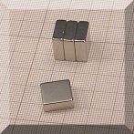 13x13x5 mm. N50 Neodym téglatest mágnes