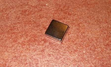 15x15x5 mm. N38 Neodym téglatest mágnes