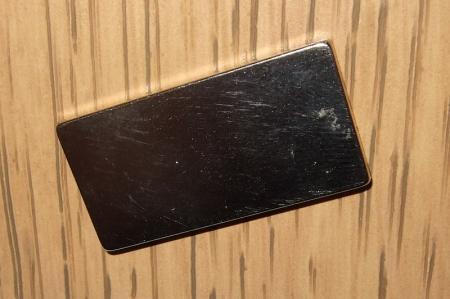 15x2x30 mm. N38 Neodym téglatest mágnes (Hosszra mágnesezett)