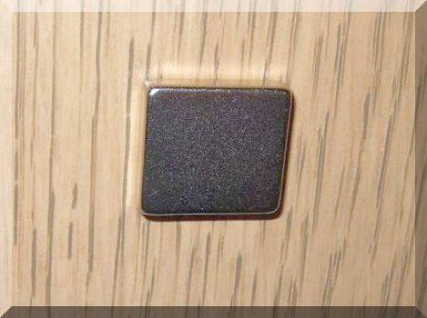 20x18x5 N38 Téglatest mágnes Neodym.