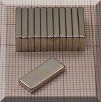20x6x2 N38SH Neodym téglatest mágnes