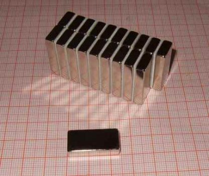 24x12x5mm. N45 Neodym téglatest mágnes