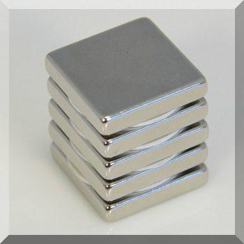 25x25x5 N38 Neodym téglatest mágnes