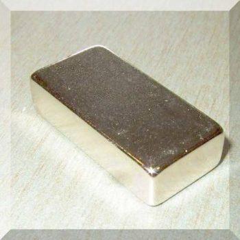 30x15x7,5mm. N50 Neodym téglatest mágnes