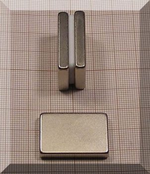 30x20x5mm. N38 Neodym (NdFeB) téglatest mágnes