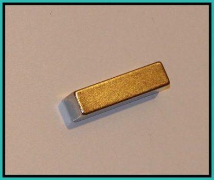 40x10x10 mm. N45 Hasáb Neodym mágnes