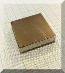 40x40x10 N40 Neodym téglatest mágnes