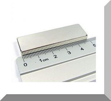 50x15x5mm. N40 Neodym téglatest mágnes (a végére mágnesezett!)