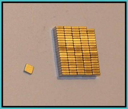 5x5x1,5 mm. N50 téglatest mágnes