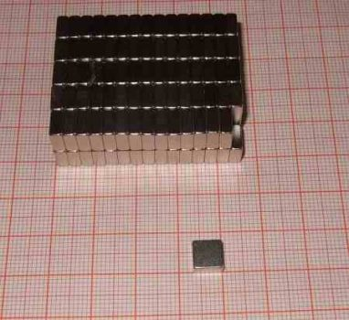 7x7x3 mm. N38 Téglatest Neodym mágnes