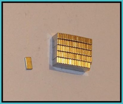 8x4x1,2 mm. N48H Neodym téglatest mágnes