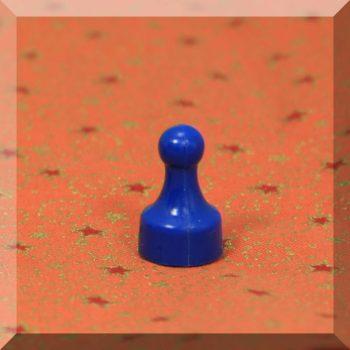 Tábla mágnes (NdFeB mágnessel) D12x20 Kék