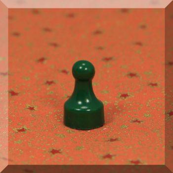 Tábla mágnes (NdFeB mágnessel) D12x20 Zöld