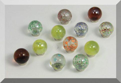Tábla mágnes (NdFeB mágnessel) D16 Üveggolyó (választható mintával)