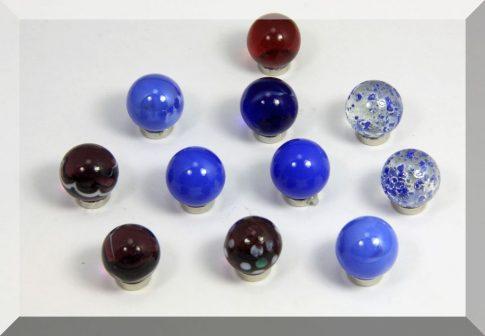 Tábla mágnes (NdFeB mágnessel) D16 Üveggolyó (választható színben)