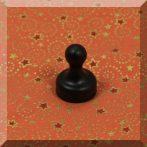 Tábla mágnes (NdFeB mágnessel) D19x25 Fekete