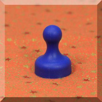 Tábla mágnes (NdFeB mágnessel) D19x25 Kék
