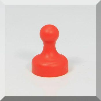 Tábla mágnes (NdFeB mágnessel) D19x25 Piros