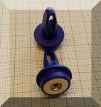 Füles tábla mágnes (NdFeB mágnessel) D20x29 Kék szinben