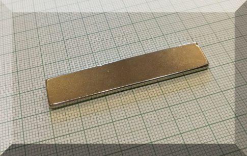 60x12x2,5 mm. N35SH Téglatest Neodym mágnes150°C