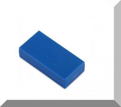 25x13x6 mm. NdFeB Műanyag-bevonatos mágnes (Polipropilén) -kék